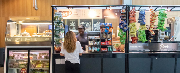 Use Flexi Dollars at campus dining locations